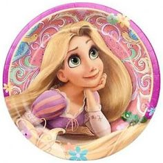 Tangled Princess Rapunzel party Plates