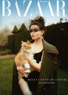 Harper's Bazaar UK: Helena Bonham Carter junio 2015  De la mano de Tom Craig tenemos esta portada de Helena Bonham Carter a la que hacía tiempo que no veíamos en las editoriales de moda. Mucho más glamourosa que en otras ocasiones.
