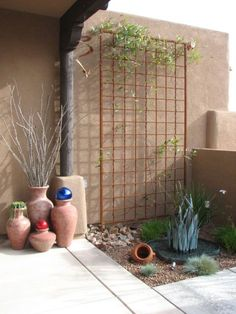 metal modern trellis - Google Search
