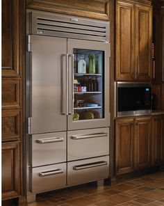 Sub Zero, glass french door fridge...... some day you will be mine!