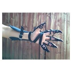 Clawed Dragon Gauntlets Bracer Claw Gauntlet, Bracer, Leather Armor,... ❤ liked on Polyvore featuring gloves