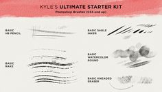 Kyle T Webster - Photoshop brush packs   reference images ...
