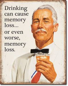 Memory Loss Tin Sign - Sam's Man Cave