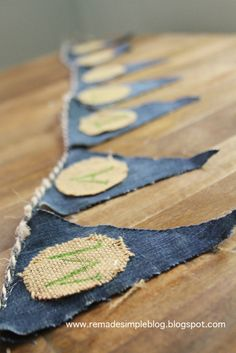 ReMadeSimple: Denim and Burlap Name Pennant