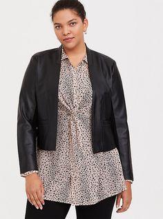 Hooded Bomber Jacket, Cropped Denim Jacket, Peplum Blazer, Lace Peplum, Black Plaid, Black Faux Leather, Faux Fur Hooded Coat, Pixie Pants, Chiffon Kimono