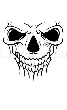 a skull tattoo drawing tutorial step 5