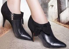 Fashion black leather high heels - Hichinashopping.com can help you to buy the apparel,shoes,bags,accessories,home decor,electronics items...... on china online shopping website and ship to you!