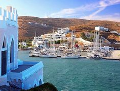 Beautiful Loutra village , at Kythnos island (Κύθνος ) . Loutra is a small village built around a natural bay and also has the famous thermal springs who a lot of visitors come to seek for cure .