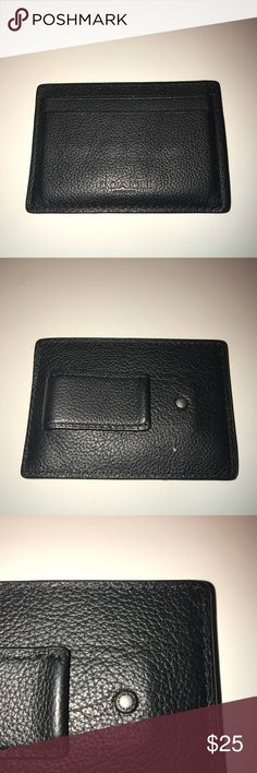 ▪️COACH▪️Men's wallet with attached money clip Pre-owned but lots of life left!! Coach Accessories Money Clips