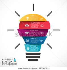 Vector light bulb infographic. Template for circle diagram, graph, presentation…