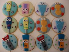 Manny and Tools Cupcakes Birthday Party Decorations, 1st Birthday Parties, Boy Birthday, Birthday Ideas, Tool Party, Fondant, Tool Cake, Cupcake Heaven, Cookies For Kids