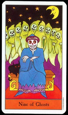Halloween Tarot: Nine of Ghosts | Flickr - Photo Sharing!