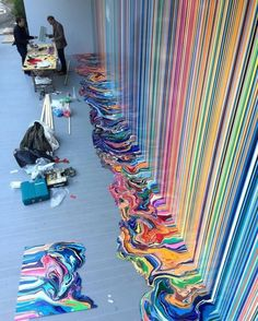 Street Art News Magazine: The work of Ian Davenport in Venice, Italy Inspiration Art, Art Inspo, Satisfying Photos, Oddly Satisfying, Street Art, Wow Art, Art Graphique, Art Plastique, Oeuvre D'art