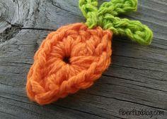 Fiber Flux...Adventures in Stitching: Free Crochet Pattern...Farmer's Market Carrot Applique!