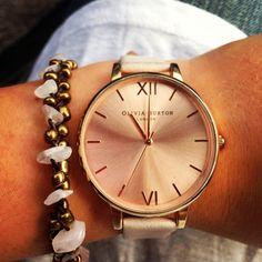 Olivia Burton and rose quartz bracelet