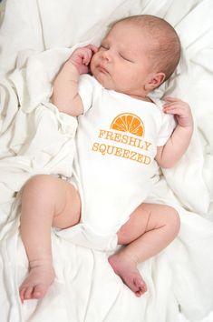 Baby onesie FRESHLY SQUEEZED silhouette