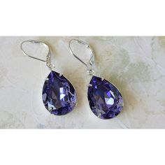 Tanzanite Crystal Earrings Wedding Bridesmaids Earrings Tanzanite... (1.365 RUB) via Polyvore featuring jewelry, earrings, rose earrings, clear crystal earrings, holiday earrings, teardrop earrings и prom earrings