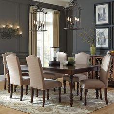 972e3f63fcd1 Baxenburg 9 Piece Upholstered Dining Set