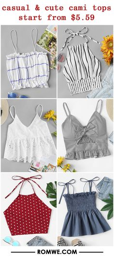 New in Tops Modern Outfits, Outfits For Teens, Summer Outfits, Casual Outfits, Cute Outfits, Cute Fashion, Teen Fashion, Fashion Outfits, Diy Summer Clothes
