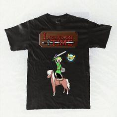 Legendäre Zeit - Abenteuer / Zelda Parodie schwarzes Hemd