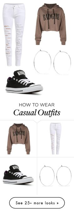 """""""Casual wear"""" by flawlessjaz101 on Polyvore featuring Converse and Catbird"""