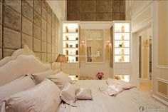 Luxurious and simple European style master bedroom design 2015