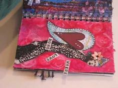 Watch the Process - Where Love Runs Deep - art journal page - using a napkin for texture and altering a magazine image