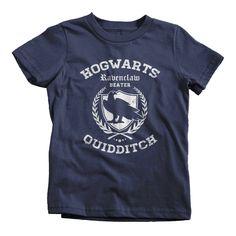 Ravenclaw Quidditch Cheap Funny T-Shirt Hogwarts Textual Tees