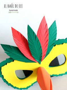Carnival mask in rubber eva. DIY You are in the right place about diy carnival decorations Here we offer you the most beautif Best Picture For DIY Carnival food For Y Carnival Tent, Carnival Dress, Carnival Decorations, Carnival Food, Carnival Outfits, Carnival Rides, Carnival Masks, Fancy Dress Design, Printable Animal Masks