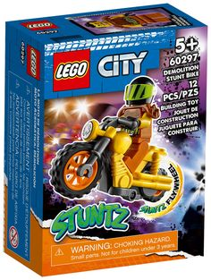 Stunt Bike, Lego City, Comic Books, Toys, Motorbikes, Cartoons, Comics, Comic Book, Graphic Novels