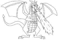 Color the Dragon Coloring Pages in Websites | Fire