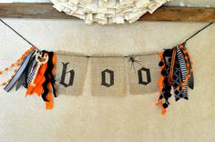 Little Birdie Secrets: halloween burlap mini banner tutorial {how to print on burlap}