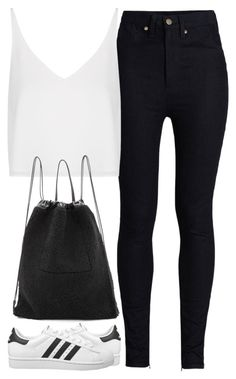 """""""Untitled #3525"""" by maddie1128 ❤ liked on Polyvore featuring Rodarte, Topshop, adidas Originals and Kara"""