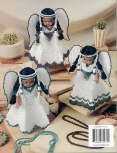 LIAA872272 2/9 Plastic Canvas Ornaments, Plastic Canvas Crafts, Plastic Canvas Patterns, Native American Dolls, Worry Dolls, Indian Princess, Indian Dolls, Princess Outfits, Animal Pillows