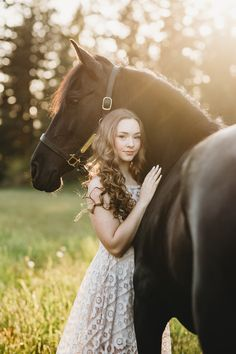 Senior Portraits with Lauren Sage and her Friesian/Andalusian Cross Mare Marana.