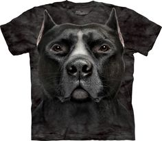 Black Pit Bull Head Shirt
