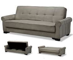 Nitasha Convertible Sofa Bed Neutral Gray Futon Covers