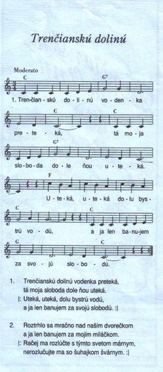 Trenčiansku dolinú Sheet Music, Train, Music Sheets
