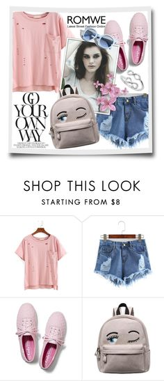 """""""Romwe"""" by tanja133 ❤ liked on Polyvore featuring Keds and Pinko"""