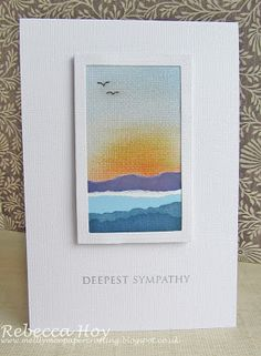 Mellymoo papercrafting: Sympathy card                                                                                                                                                     More