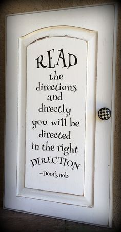 Alice In Wonderland Quote On Repurposed Door Custom Signs in 2020