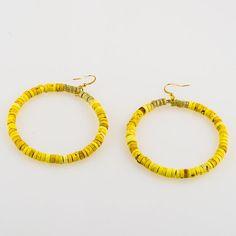 Mellow Yellow Wire Hoop Earrings by JewelsByCrys on Etsy, $14.00