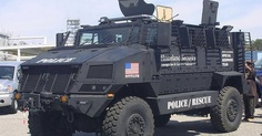 This photo is alarming. This is now the second photo floating around the internet showing DHS gearing up its police rescue vehicles. When we posted the first photo last month, one of our followers said they saw 30 of them on railroad cars rolling through Colorado.