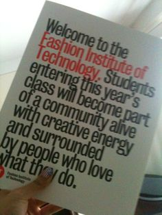 fashion institute of technology one day this letter will be for me #newyork #fashionuniversity <3
