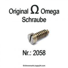 Omega Schraube 2058 Omega Part Nr. Omega 2056 - Omega Ersatzteile - Tools, Omega Watch, Aftermarket Parts, Instruments