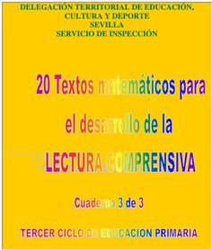 Diversidad de modelos didácticos sobre textos matemáticos  que pretenden abundar en la idea de comprender  el enunciado de un problema, co... English Activities, School Worksheets, Hands On Activities, Education, Reading, Books, Maths, Projects, Texts