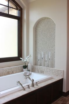 Tremendous-Bathroom-Shelves-decorating-ideas-for-Bewitching-Bathroom-Traditional-design-ideas-with-alcove-bathing-nook-bathroom-shelves-candlesticks-mosaic-tile-neutral-colors-orchid-soaking.jpg (660×990)