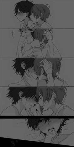 Uke x ukeee Comic Anime, Otaku Anime, Manga Anime, Hot Anime, Anime Love, Cute Gay Couples, Cute Anime Couples, Manga Drawing, Drawing Faces