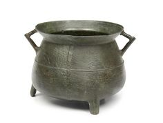 A late 17th century leaded bronze cauldron, attributed to John Sturton I of South Petherton, Somerset
