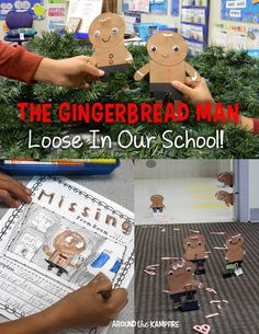 One of our favorite gingerbread man activities, based on the book, The Gingerbread Man Loose in Our School. See how we made these crafts and a class book for our gingerbread exchange buddies! Gingerbread Man Book, Gingerbread Man Activities, Gingerbread Crafts, Gingerbread Man Kindergarten, Eyfs Activities, Christmas Activities, Book Activities, Reading Buddies, Traditional Tales